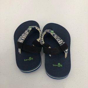 Sanuk Shoes - Slightly Worn Blue Sanuk Flip Flops Boys Sz 9-10